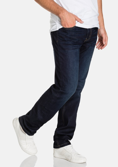 Dark Blue Zalman Slim Jean