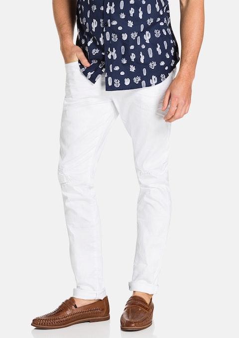 White Cuba Skinny Jean