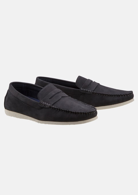 Navy Larry Loafer Shoe