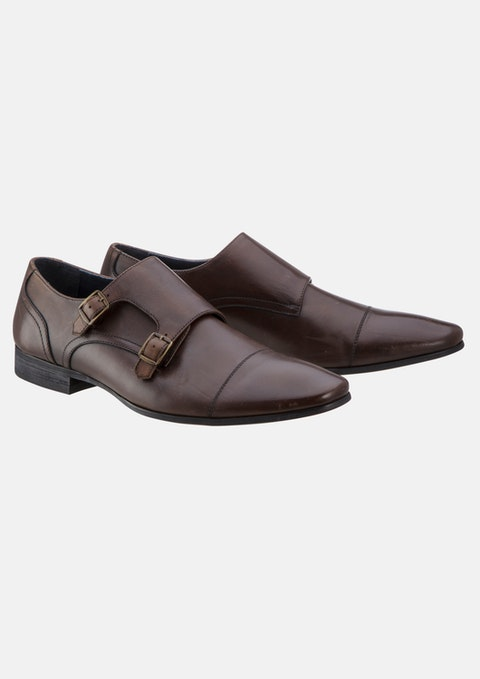 Chocolate Monk Strap Shoe