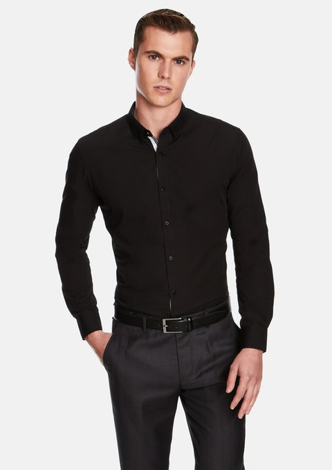 Black Gibson Slim Fit Dress Shirt