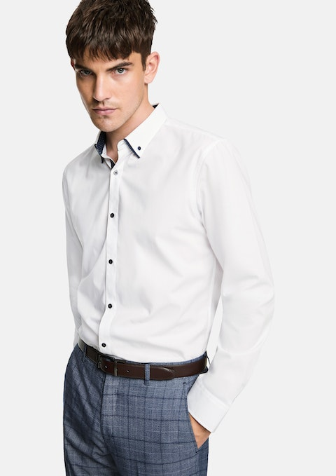 White Gibson Slim Dress Shirt