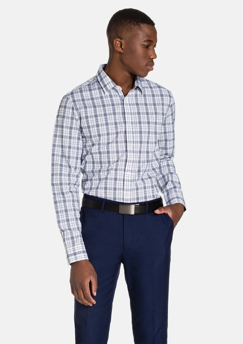 Blue Patterson Dress Shirt