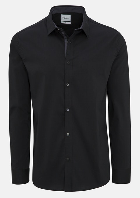 Black Camm Slim Fit Dress Shirt