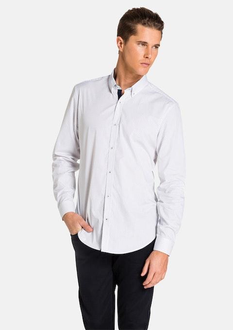 White/ Navy Seymour Shirt
