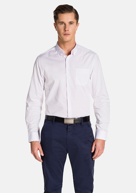Pink/ White Larson Slim Fit Shirt