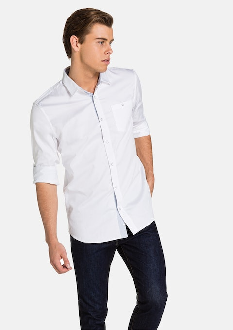 White Halten Slim Fit Shirt