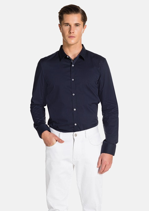 Navy Rosko Slim Fit Shirt