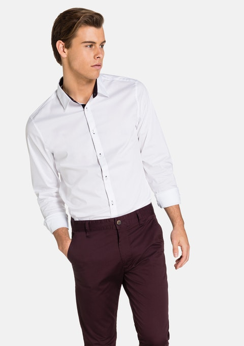 White Sebastian  Slim Fit Shirt