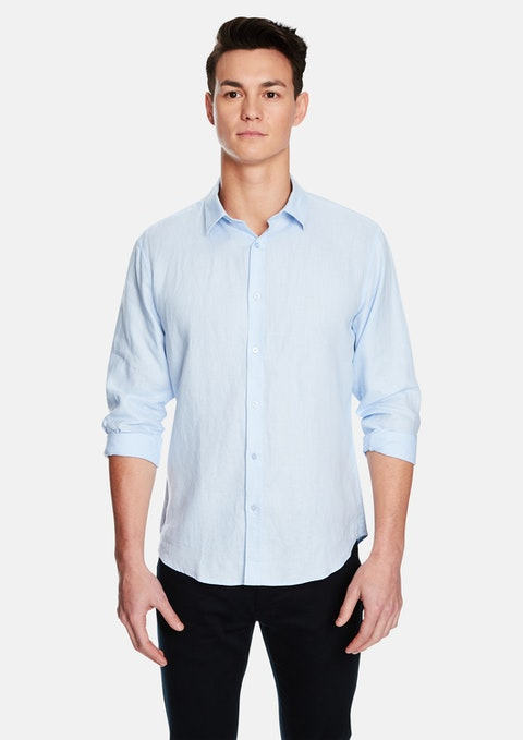 Light Blue West Hampton Linen Shirt
