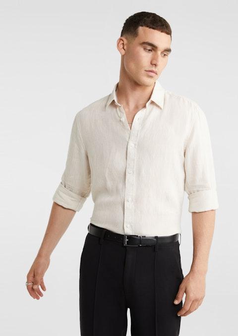 Natural West Hampton Pure Linen Shirt
