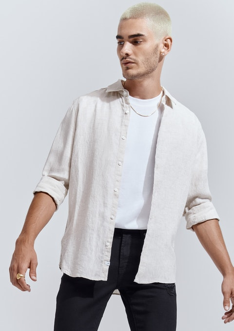 Natural West Hampton Linen Shirt