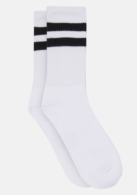 White Two Ways Classic Sport Sock