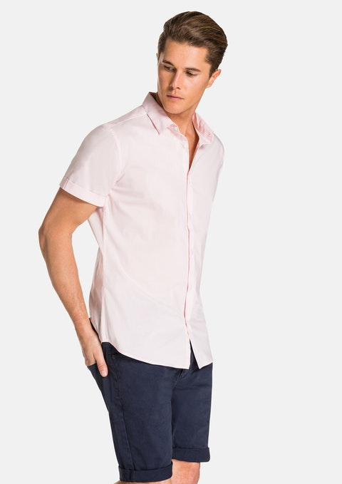 Charm Pink Katiko Slimfit Ss Shirt