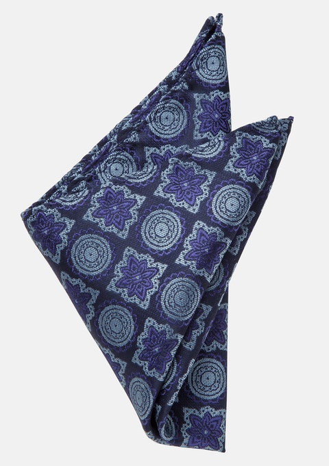 Navy Andy Pocket Square