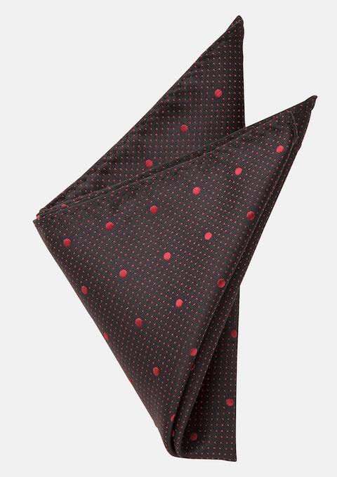 Black/red Morrison Pocket Square