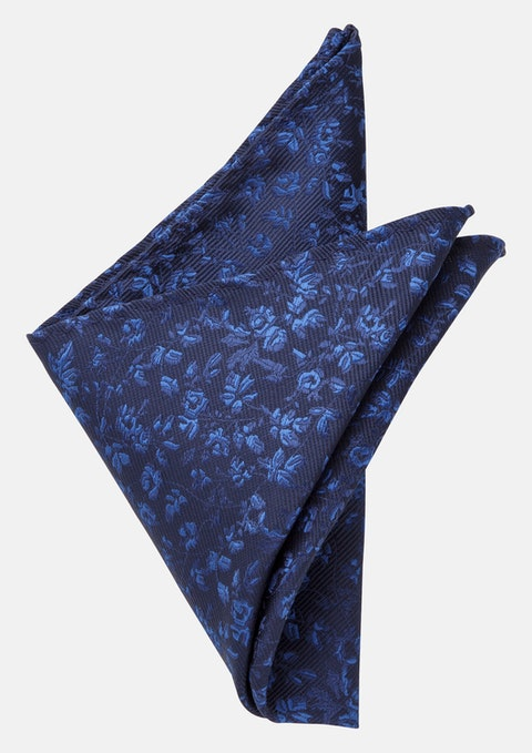 Navy Dylan Pocket Square