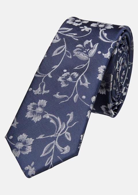 Navy/grey Bowie 5cm Tie