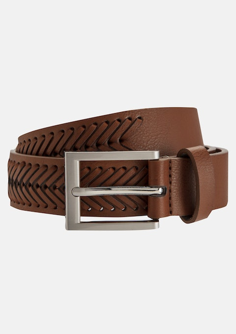 Tan Bruce Textured Chino Belt