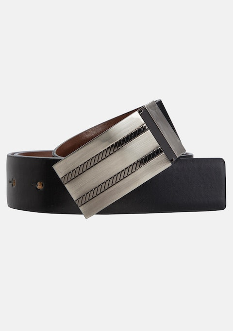 Black/brn Mercedes Dress Belt