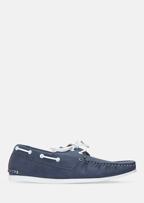 Navy Jack Boat Shoe