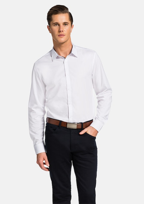 White Chantry Slim Fit Shirt
