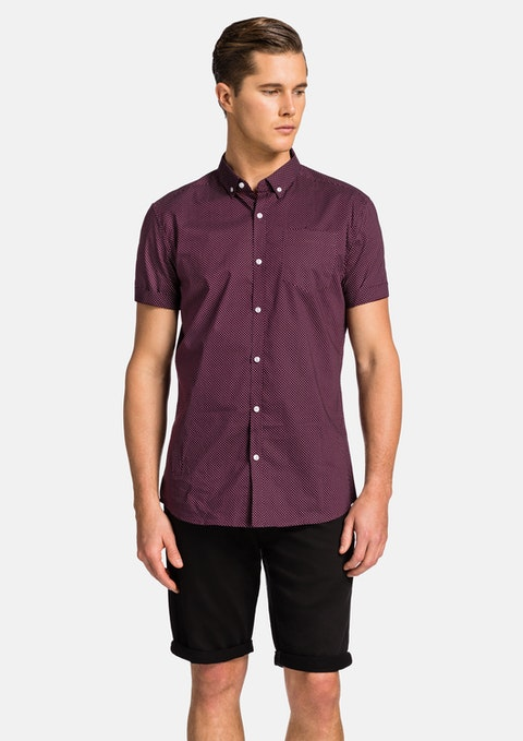 Burgundy Shane Ss Shirt