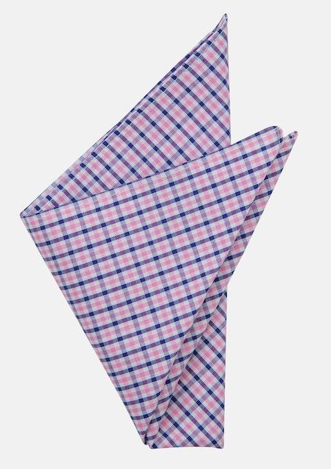 Pink/blue Rivas Pocket Square