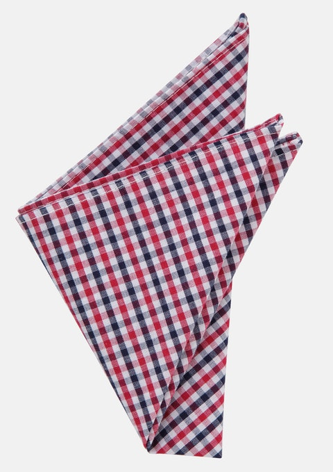 Red/navy Holger Pocket Square