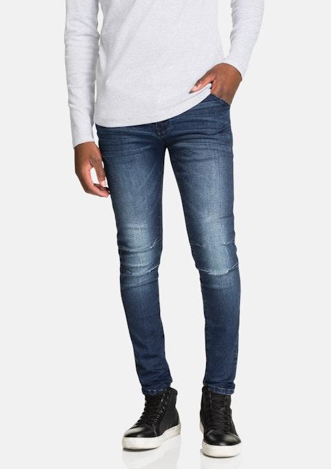 Mid Blue Oron Slim Tapered Jean