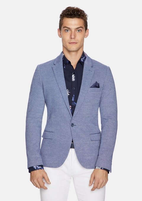 Blue Zappa Stretch Blazer