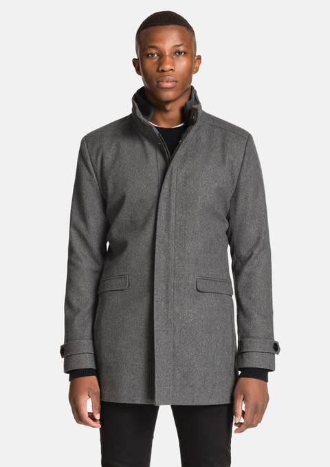 Charcoal Lennox Melton Jacket