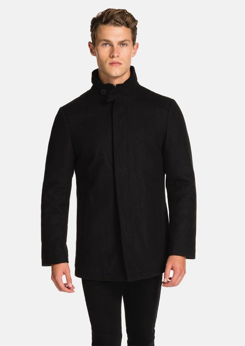 Black Eastwood Melton Jacket