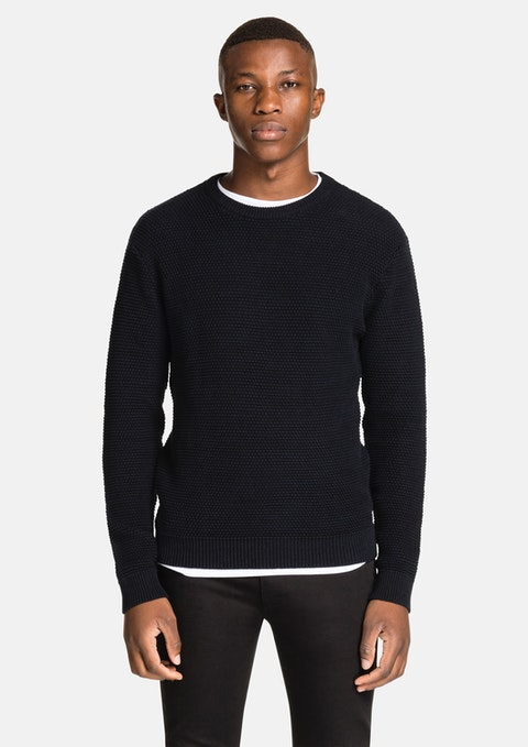 Navy Jayce  Crew Neck