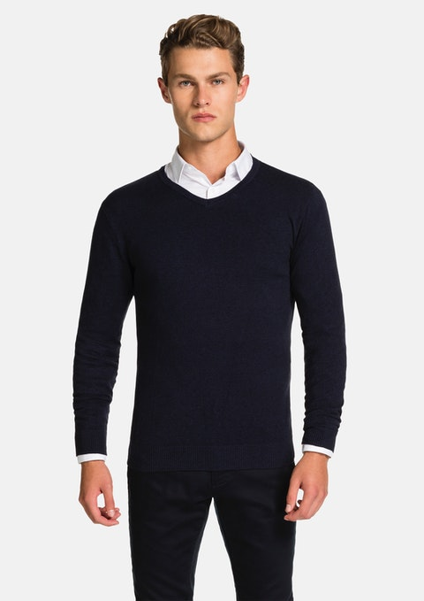Navy Shay  V Neck