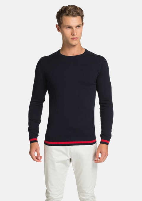 Navy Spandau Knit