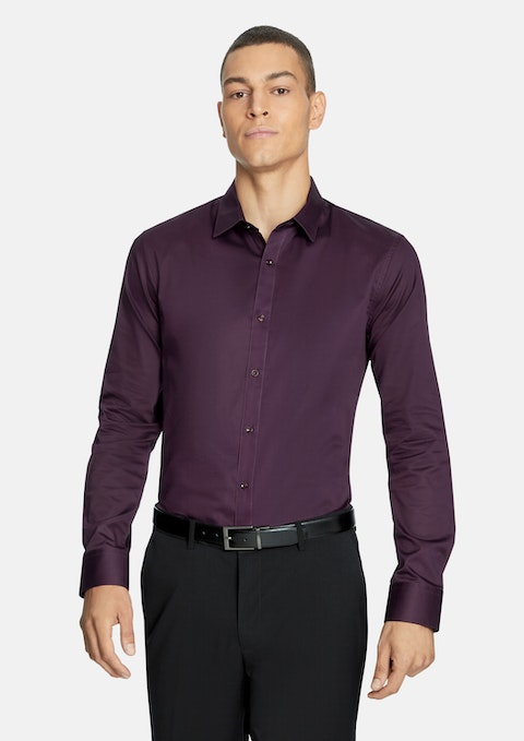 Berry Mission Slim Dress Shirt