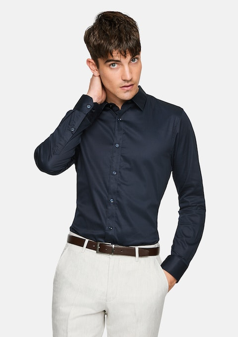 Navy Mission Slim Dress Shirt