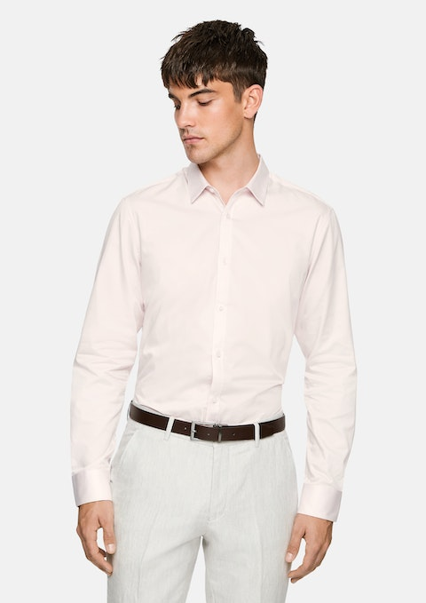 Soft Pink Mission Slim Dress Shirt