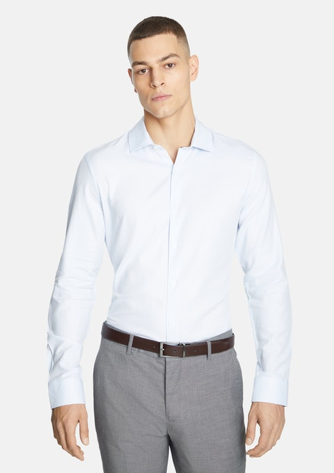 Light Blue Aramac Slim Fit Dress Shirt