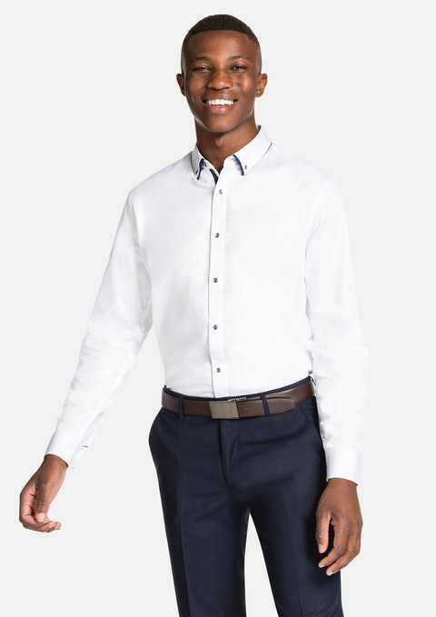 White Astor Slim Fit Dress Shirt