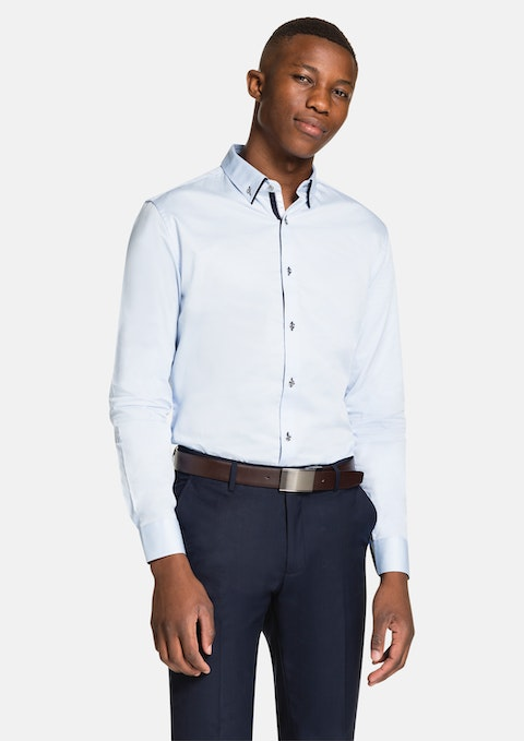 Light Blue Luxe Slim Fit Dress Shirt