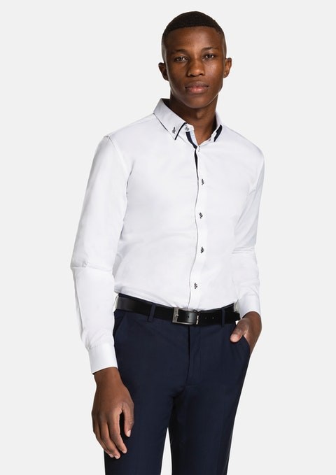 White Luxe Slim Fit Dress Shirt
