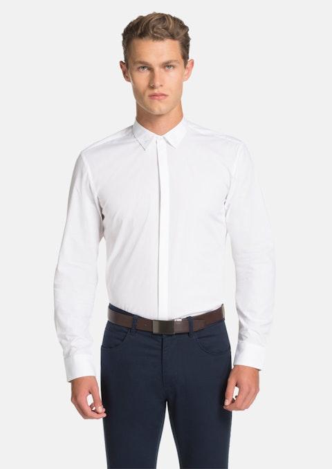 White Como Ornate Slim Fit Dress Shirt
