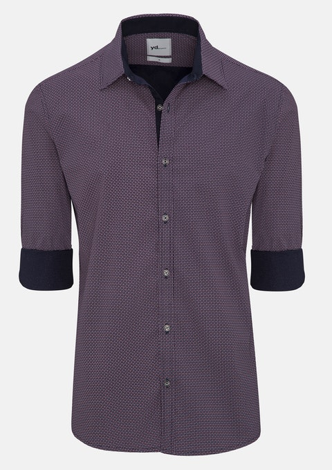 Navy Evon Slim Fit Shirt