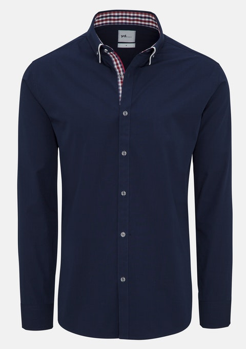 Navy Leor Slim Fit Shirt