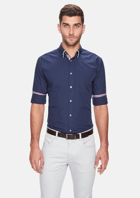 Navy Leor Slim Fit Shirt