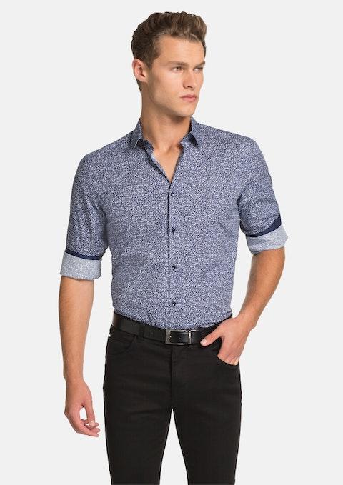 Blue Mini Floral Shirt