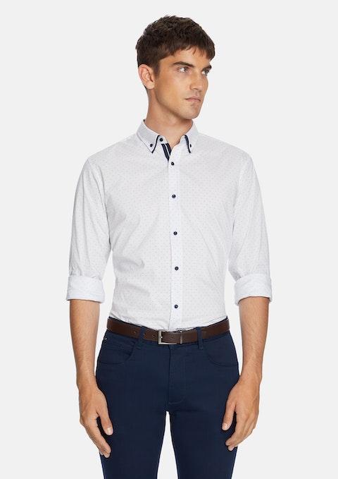 White Roka Slim Shirt
