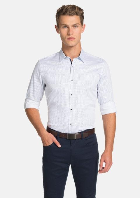 White Bodie Slim Fit Shirt
